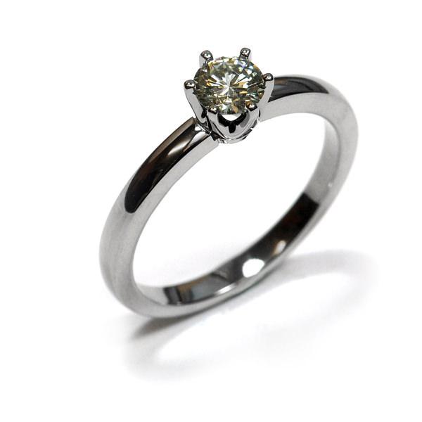 Verlobungsring Weissgold Brillant (1007226)