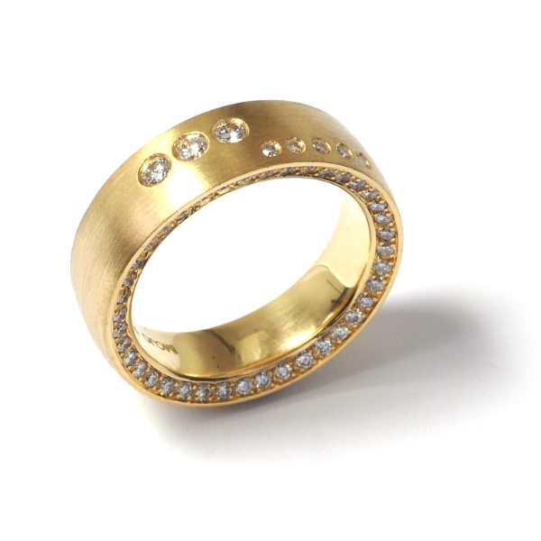Ring Gelbgold Diamanten weiss (1007431)