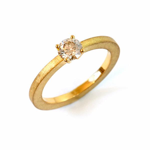 Verlobungsring  Fairtrade Gelbgold Brillant (1007835)