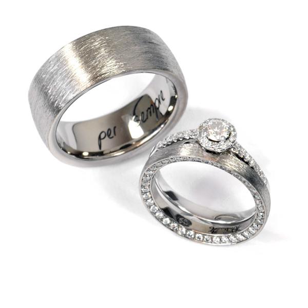 Eheringe Fairtrade Weissgold Brillanten Verlobungsring (1007923)