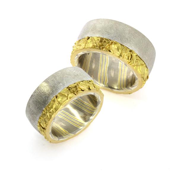 Eheringe Mokumegane Gelbgold Palladium Silber (1008251)