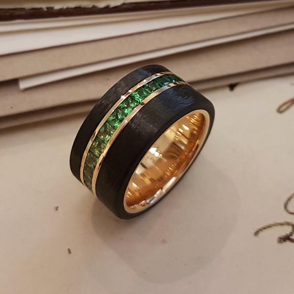 Ring Roségold Zavorit Carbon (250007)