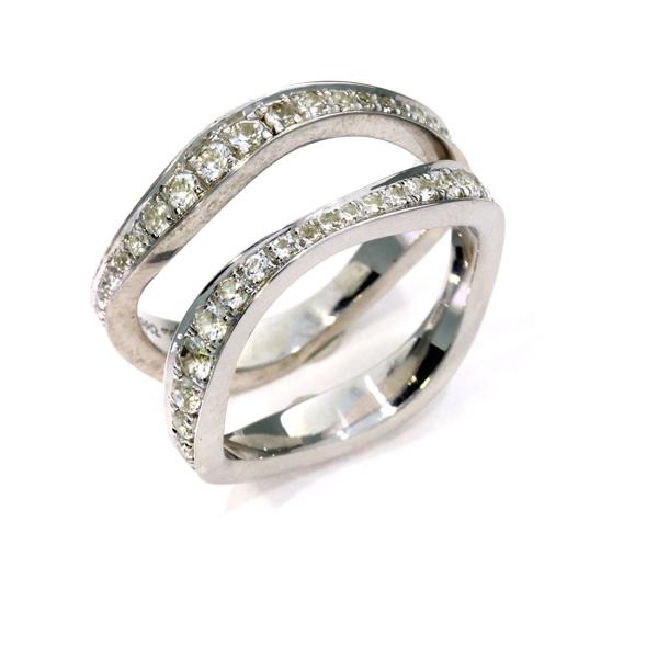 Damenring Verlobungsring Eheringe Palladium Brillanten (250982_250983)
